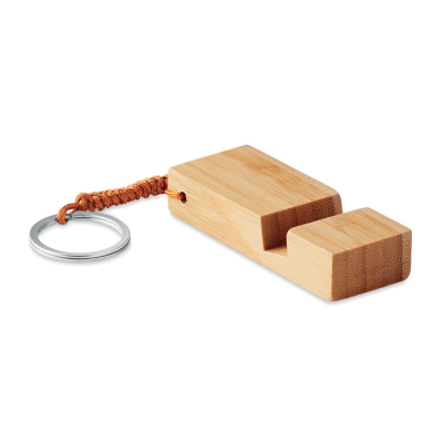 Picture of KEYRING with Smartphone Stand in Bamboo