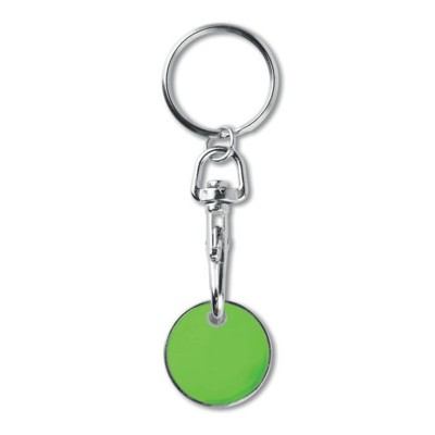 Picture of METAL KEYRING TROLLEY EURO TOKEN