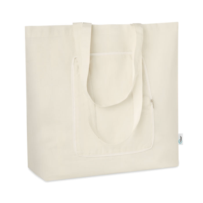 Picture of FOLDING SHOPPER TOTE BAG in Recycled Fabrics 150 Gr-m²