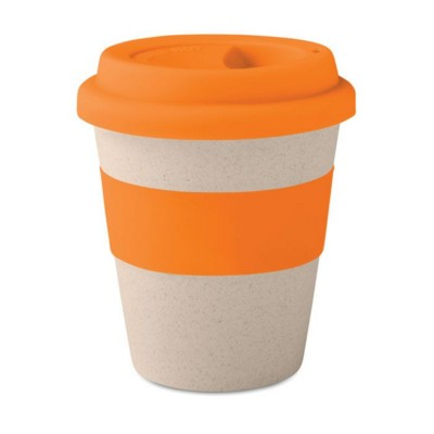 Picture of SINGLE WALL TUMBLER in 40% Bamboo Fibre & 60% Pp with Silicon Lid & Grip