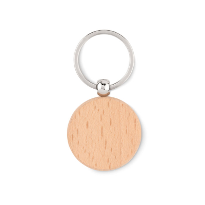 Picture of ROUND SHAPE WOOD KEYRING