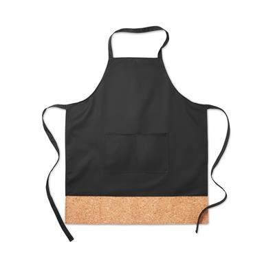 Picture of ADJUSTABLE KITCHEN APRON with 2 Front Pockets in 35% Cotton-65% Polyester with Cork Hem