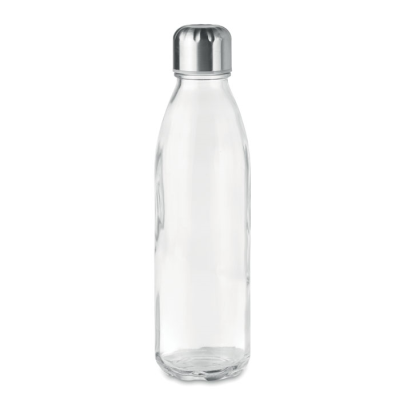 Picture of GLASS DRINK BOTTLE with Stainless Steel Metal Lid