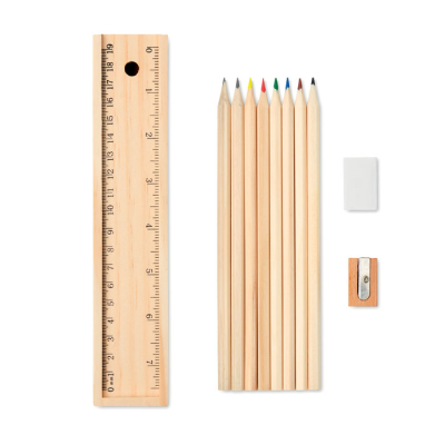 Picture of 12 PIECES STATIONERY SET with 2 Pencil Set