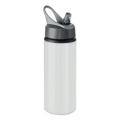 Picture of ALUMINIUM METAL SINGLE LAYER DRINK BOTTLE with Folding Mouth Piece & Lid with Hanger
