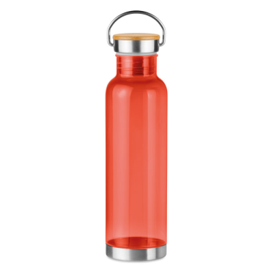 Picture of TRITAN 800ML BOTTLE with Stainless Steel Metal Bottom & Lid with Bamboo Detail