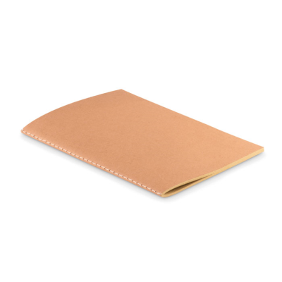Picture of A5 CARDBOARD CARD COVER 250GR-M² NOTE BOOK with 80 Stitched Recycled Pages in 70 Gr Paper