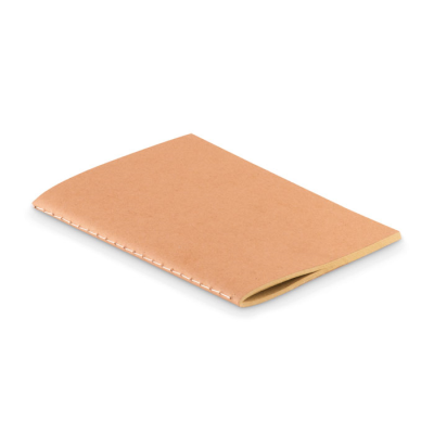 Picture of A6 CARDBOARD CARD COVER 250GR-M² NOTE BOOK with 80 Stitched Recycled Pages in 70 Gr Paper