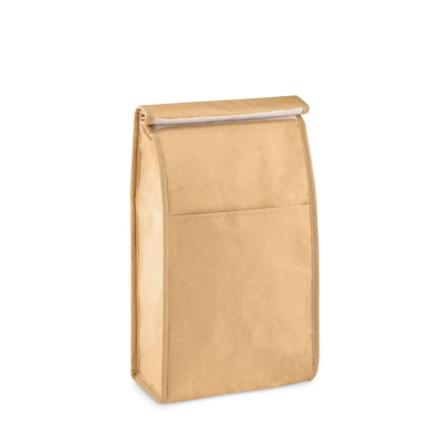 Picture of WOVEN PAPER WOVEN COOLER LUNCH BAG with Front Pocket