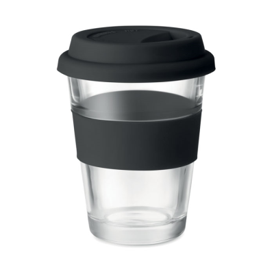 Picture of GLASS TUMBLER with Silicon Lid & Grip