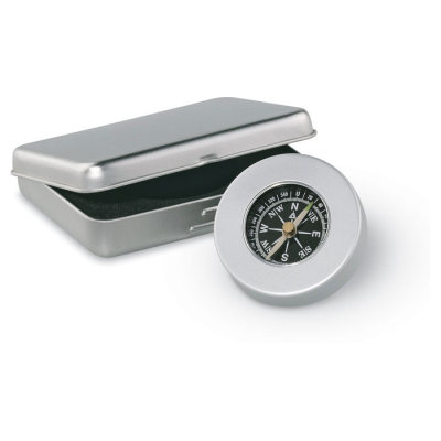 Picture of ALUMINIUM TARGET NAUTICAL COMPASS in Matt Silver