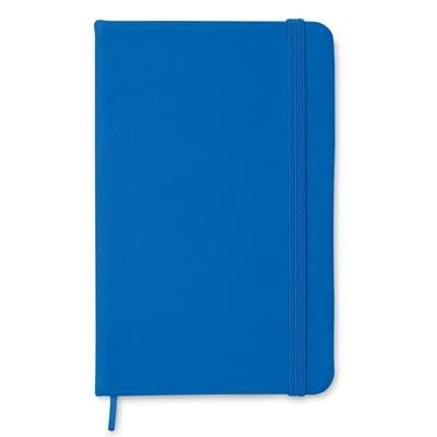 Picture of A6 NOTE BOOK with Soft PU Cover & 96 Blank Paper Pages Closed by an Elastic Rubber Band