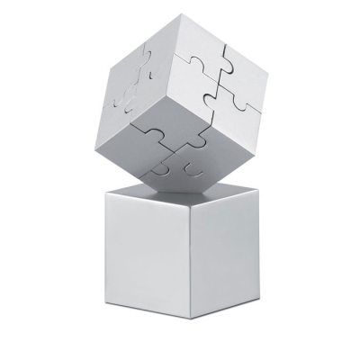 Picture of KUBZLE METAL 3D PUZZLE in Matt Silver