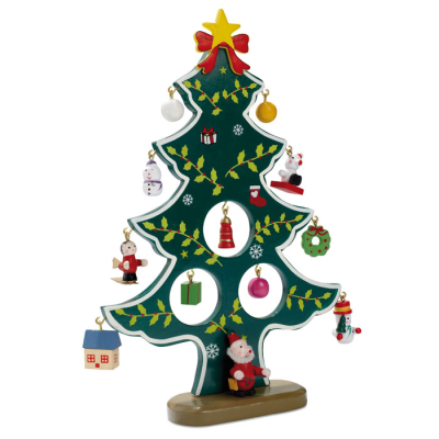 Picture of WOOD XMAS TREE DECORATION