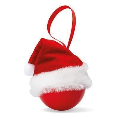 Picture of XMAS BAUBLE with Father Christmas Santa Hat