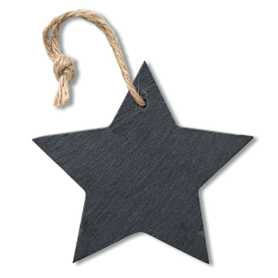 Picture of SLATE XMAS HANGER STAR