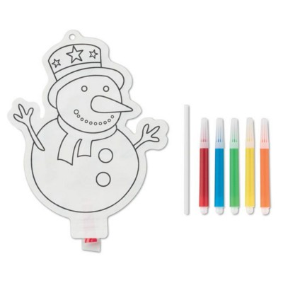 Picture of SNOWMAN COLOURING BALLOON