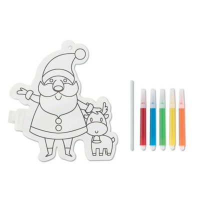 Picture of FATHER CHRISTMAS SANTA COLOURING BALLOON