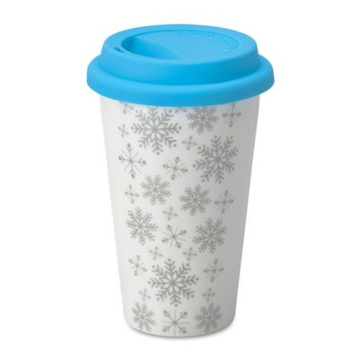 Picture of DOUBLE WALL CERAMIC POTTERY TRAVEL CUP