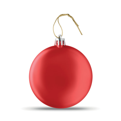 Picture of FLAT CHRISTMAS BAUBLE in Red