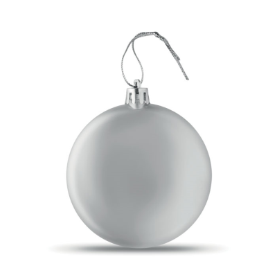 Picture of FLAT CHRISTMAS BAUBLE in Silver