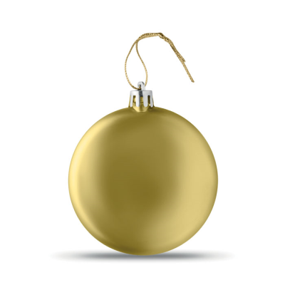 Picture of FLAT CHRISTMAS BAUBLE in Gold