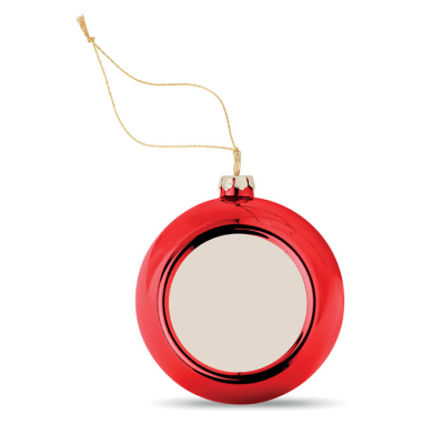 Picture of CHRISTMAS BALL FOR SUBLIMATION in Red