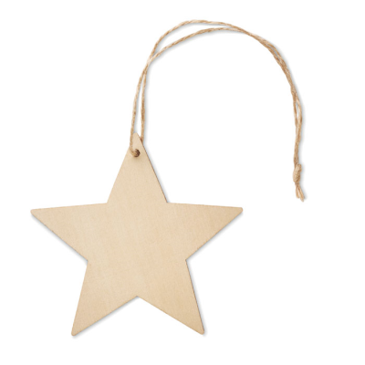 Picture of WOOD STAR SHAPE HANGER