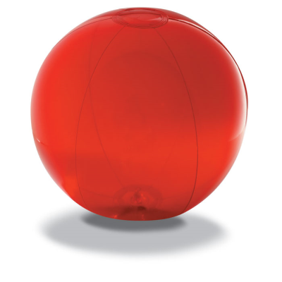Picture of BEACH BALL in Translucent Red PVC