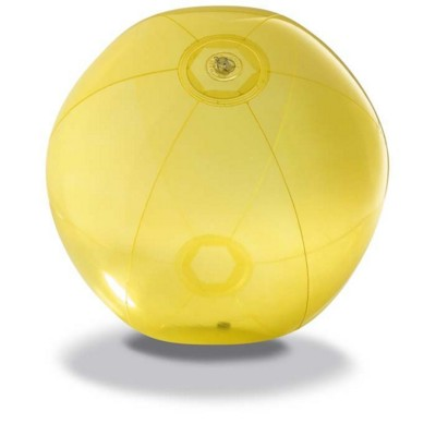 Picture of BEACH BALL in Translucent Yellow PVC