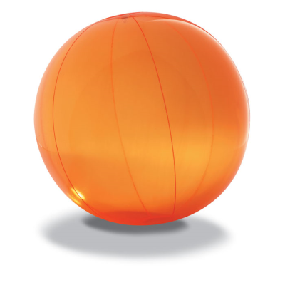 Picture of BEACH BALL in Translucent Orange PVC