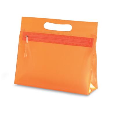 Picture of CLEAR TRANSPARENT LADIES COSMETICS VANITY BAG in Orange