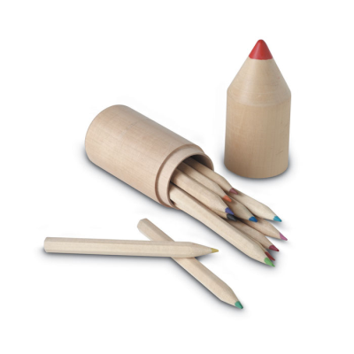 Picture of 12 WOOD COLOURING PENCIL SET in Tube