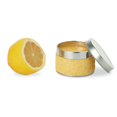 Picture of FRAGRANCE CANDLE in TIN in Yellow