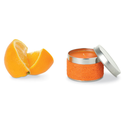 Picture of FRAGRANCE CANDLE in TIN in Orange