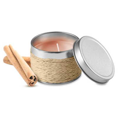 Picture of FRAGRANCE CANDLE in TIN in Beige
