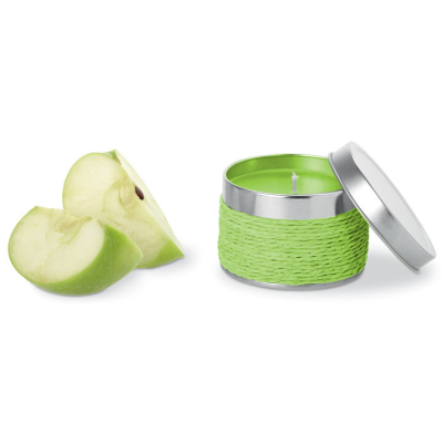 Picture of FRAGRANCE CANDLE in TIN in Lime Green