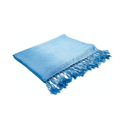 Picture of VISCOSE PASHMINA STOLE LADIES SCARF in Blue