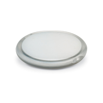 Picture of DOUBLE COMPACT LADIES HANDBAG MIRROR in Round Shape in Clear Transparent