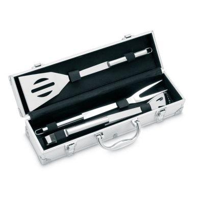 Picture of 3 BBQ TOOLS in Aluminium Metal Case