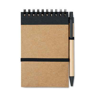 Picture of RECYCLED PAPER NOTE BOOK + PEN