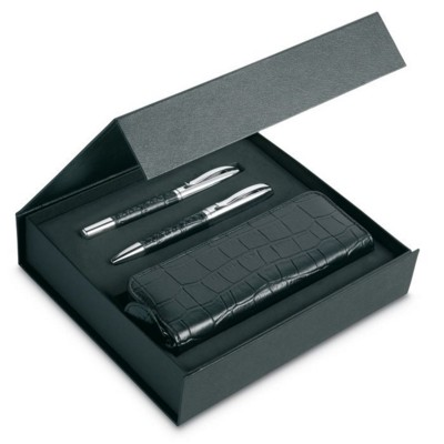 Picture of PEN SET AND POUCH in PU Case
