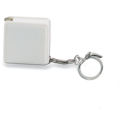Picture of TAPE MEASURE KEYRING in White