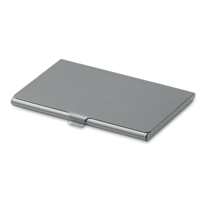 Picture of METAL BUSINESS CARD POCKET HOLDER in Matt Silver