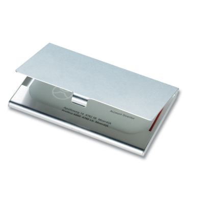 Picture of ALUMINIUM METAL BUSINESS CARD POCKET HOLDER in Shiny Silver
