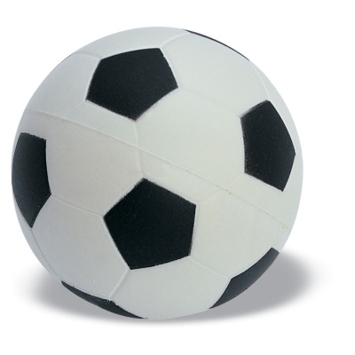 Picture of FOOTBALL BALL STRESS ITEM in White & Black