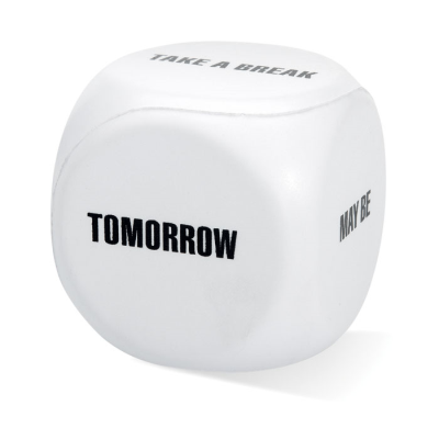 Picture of STRESS DECISION DICE in White