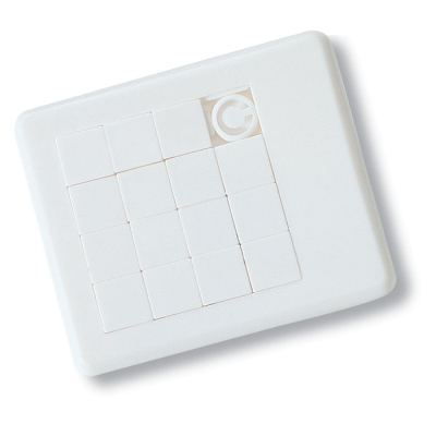 Picture of PLASTIC SLIDING PUZZLE TRAY GAME in White