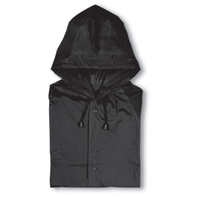 Picture of PVC RAINCOAT with Hood in Black