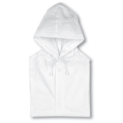 Picture of PVC RAINCOAT with Hood in White